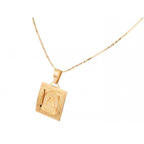 Literka złota na blaszce A