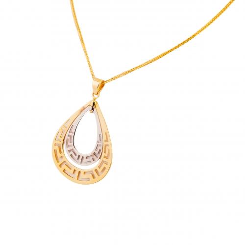 Wisior dwukolorowe złoto ażurowy 585
