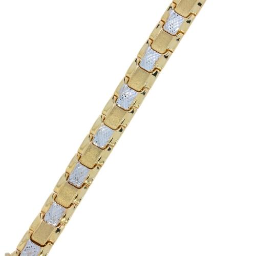 Bransoleta dwukolorowa gruba 585