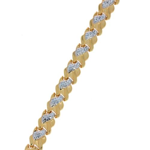 Bransoleta dwukolorowa 585