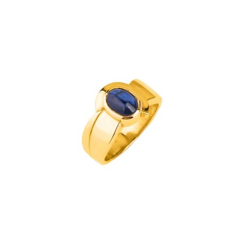 Pierścionek złoty z szafirem 585