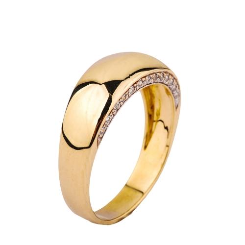 Pierścionek złoty obrączka z cyrkoniami Swarovski 585
