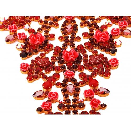 Naszyjnik z czerwonymi kryształami Swarovski