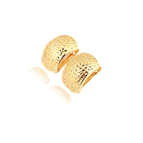 Kolczyki serca dwukolorowe złoto Swarovski 585