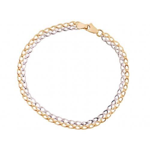 Bransoletka złota dwukolorowa