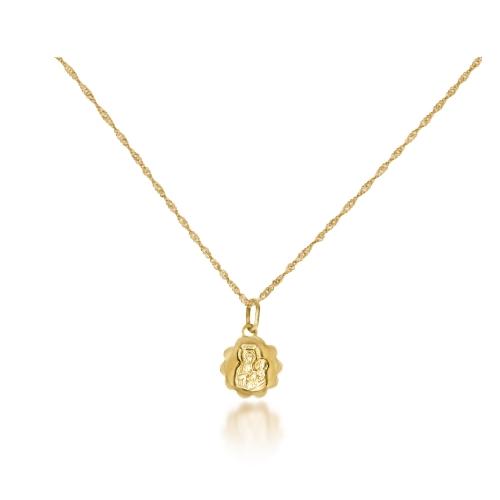 Medalik I Komunia grawer złoto 585