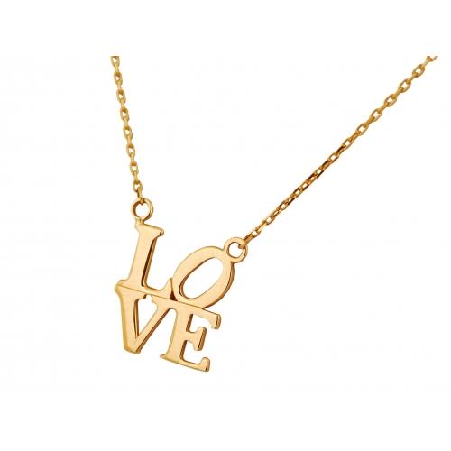 Łańcuszek złoty CELEBRYTKA LOVE