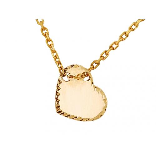 Łańcuszek złoty CELEBRYTKA serce