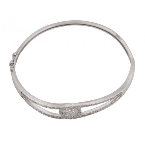 Bransoletka srebrna z kamieniami Swarovski
