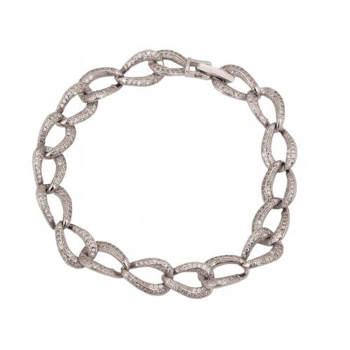 Bransoletka srebrna duże ogniwa