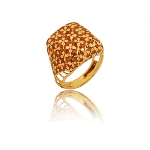 Pierścionek złoty kwiatki