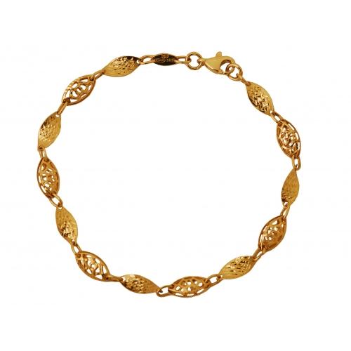 Bransoletka złota ażurowa