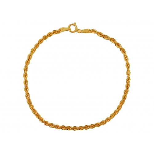 Bransoletka złota skręcona