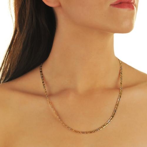 Łańcuszek dwukolorowe złoto 585