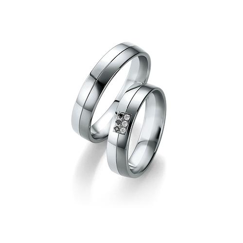 Obrączki B&W Black Diamonds - białe złoto