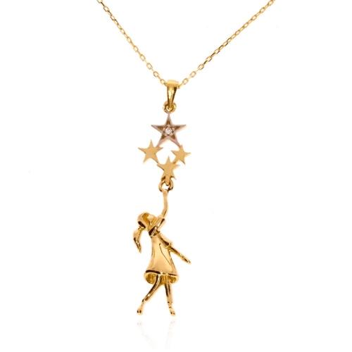 Naszyjnik dla córki złoto 585 celebrytka