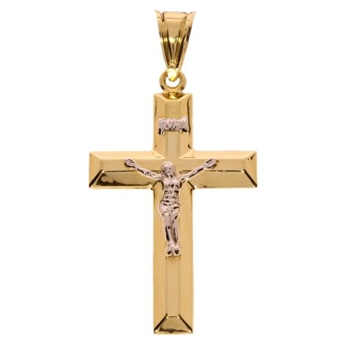 Duży męski krzyż złoto 585