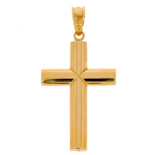 Duży męski krzyż złoto 585 dwustronny