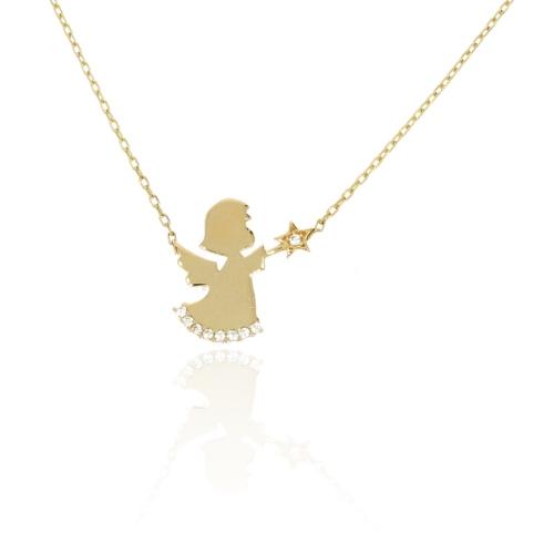 Celebrytka aniołek złoto 585