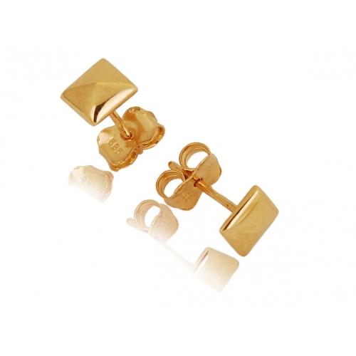 Kolczyki złote KWADRAT