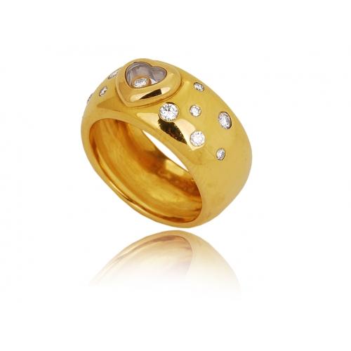 Pierścionek złoty serce