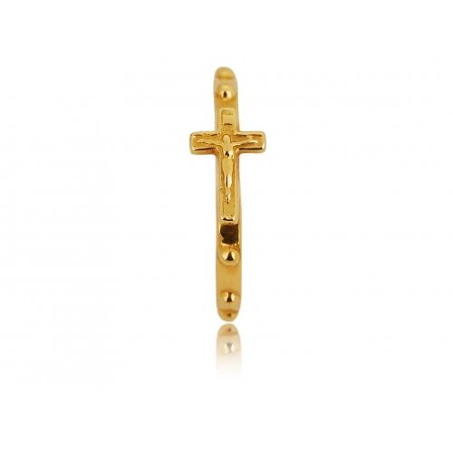 Pierścionek złoty krzyż