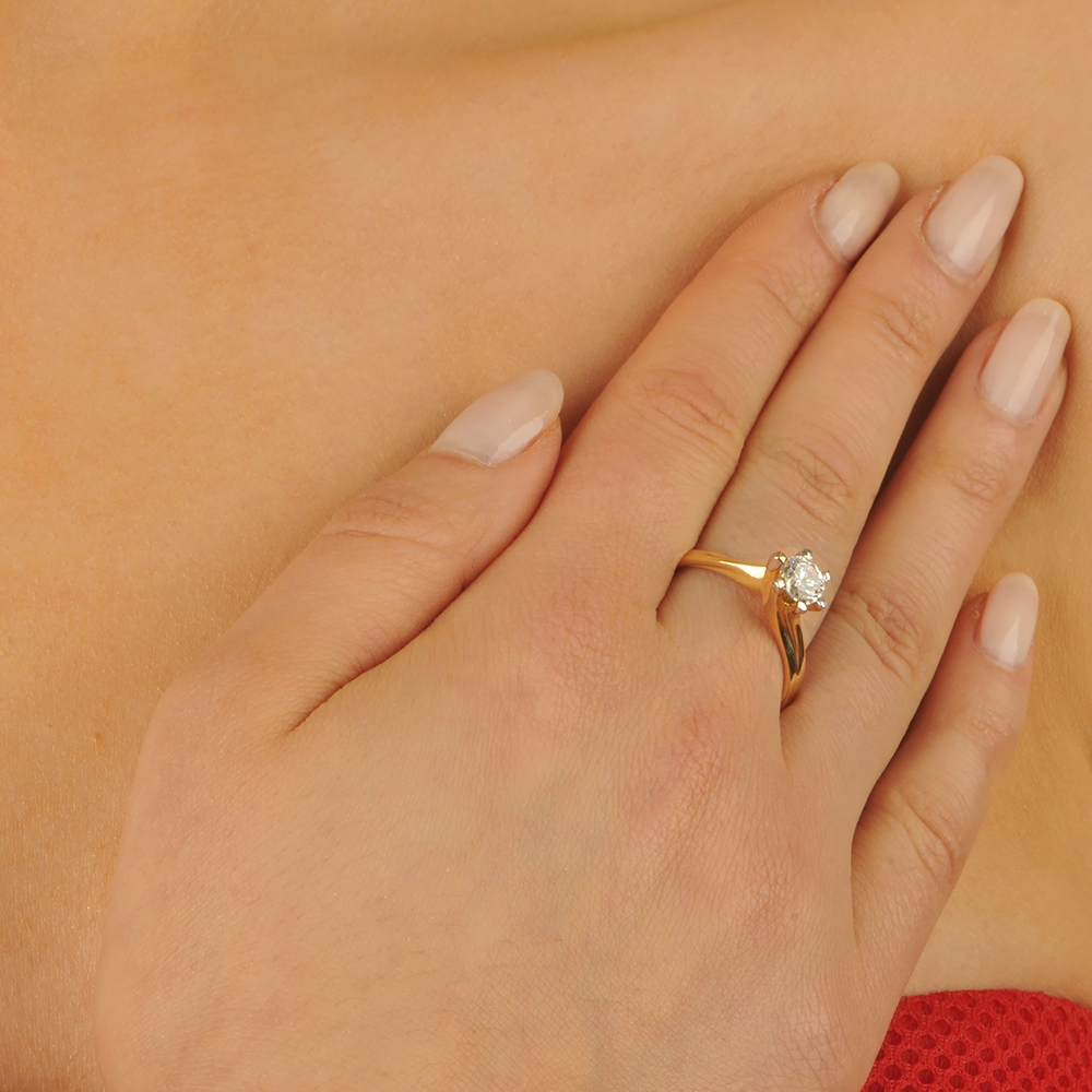 Pierścionek Zaręczynowy Tradycyjny Chaton Jubiler