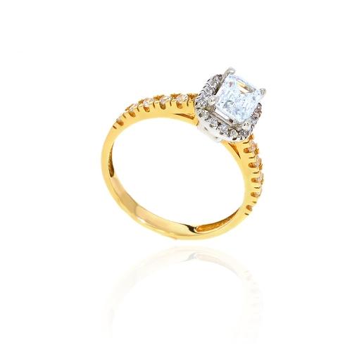 Złoty tradycyjny zaręczynowy pierścionek !