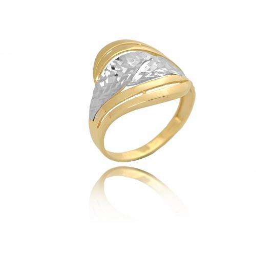 Pierścionek złoty szeroki