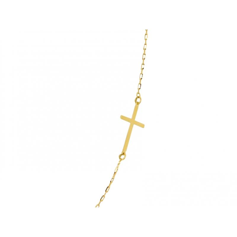Łańcuszek złoty Celebrytka KRZYŻYKI
