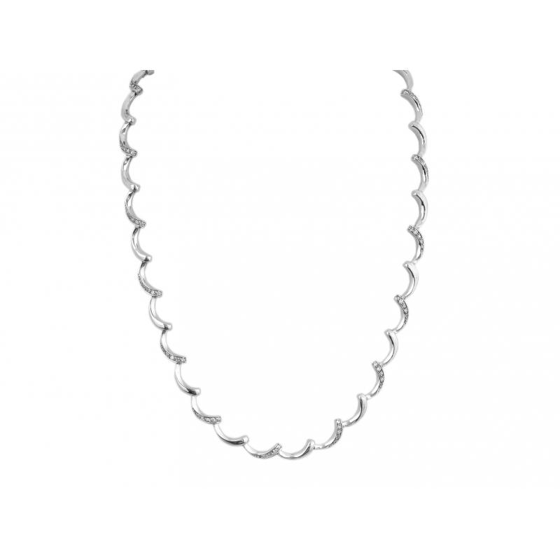 Komplet srebrny: naszyjnik + bransoletka