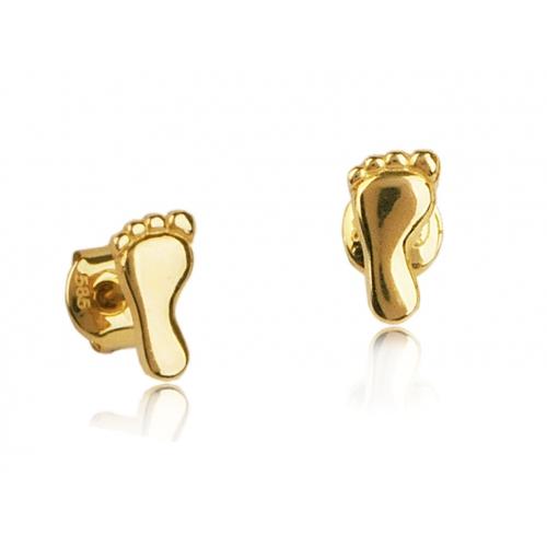 Kolczyki złote stópki