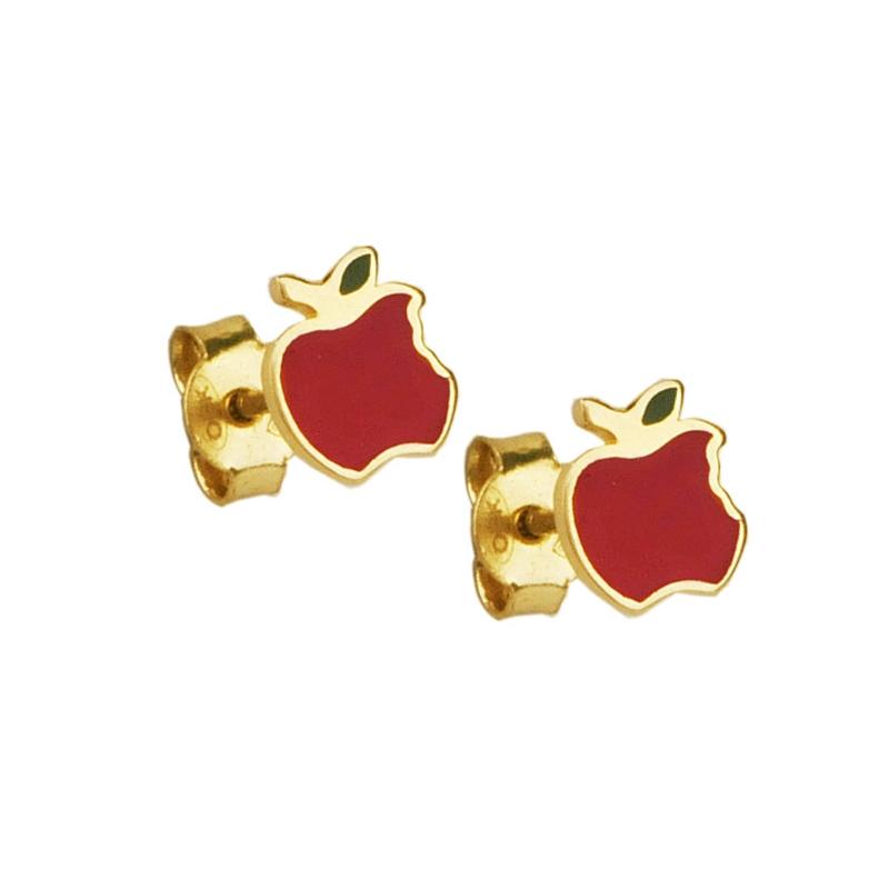 Kolczyki złote jabłko