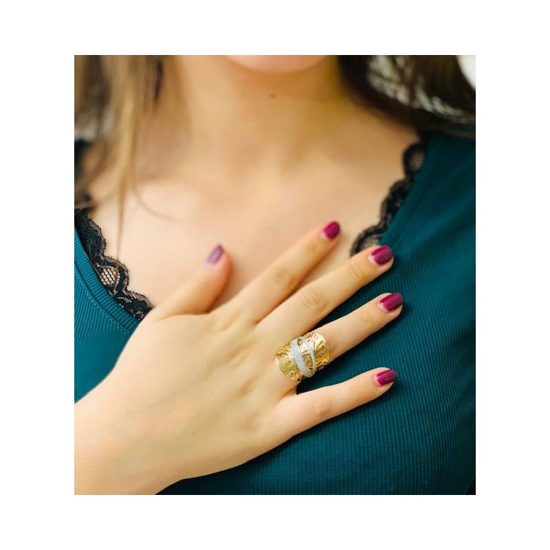 Duży złoty pierścionek 585 !