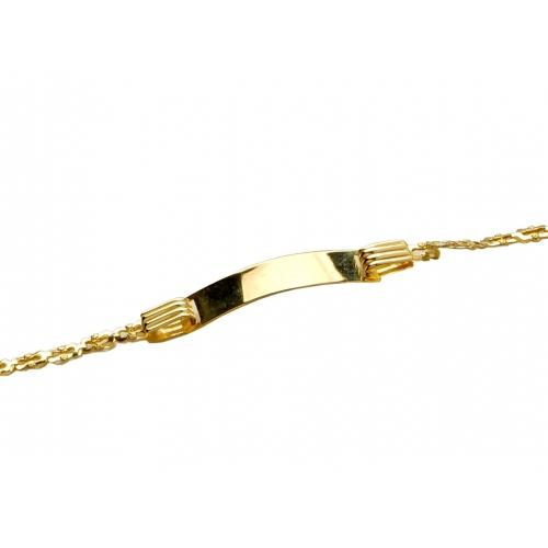 Bransoletka złota z blaszką grawer