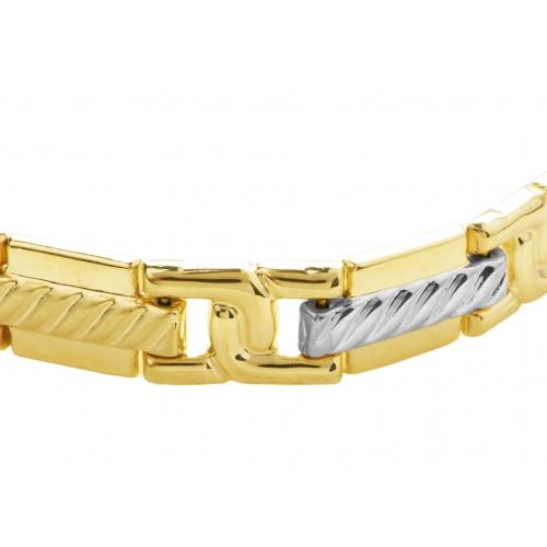 Bransoletka biało-żółte złoto