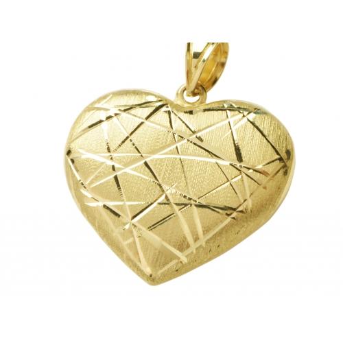 Elegancki złoty wisior SERCE