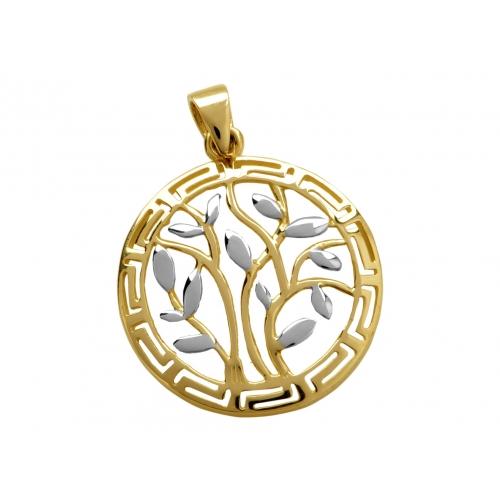 Złote drzewko szczęścia wisiorek