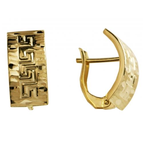 Kolczyki złote grecki wzór
