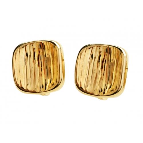 Kolczyki złote diamentowane kwadrat