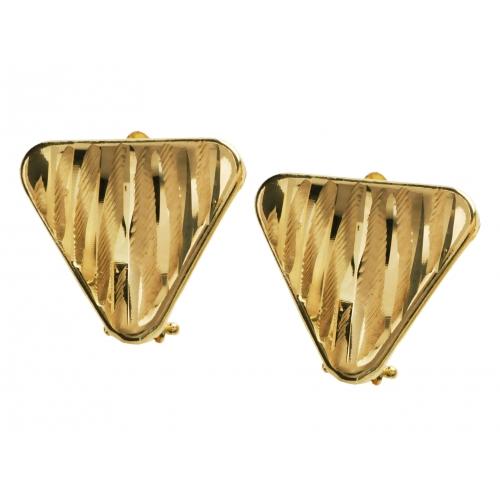 Kolczyki złote diamentowane trójkąt