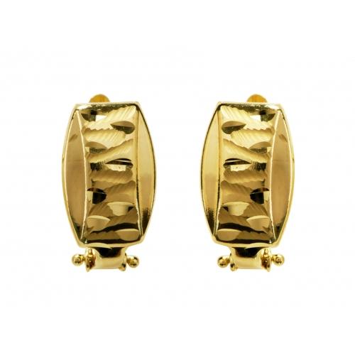 Kolczyki złote diamentowane