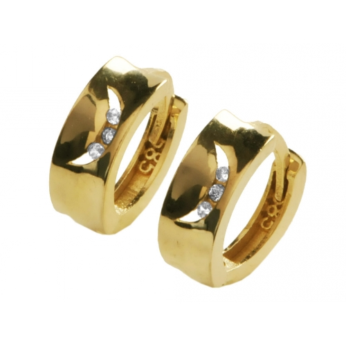 Kolczyki złote kamienie Swarovski
