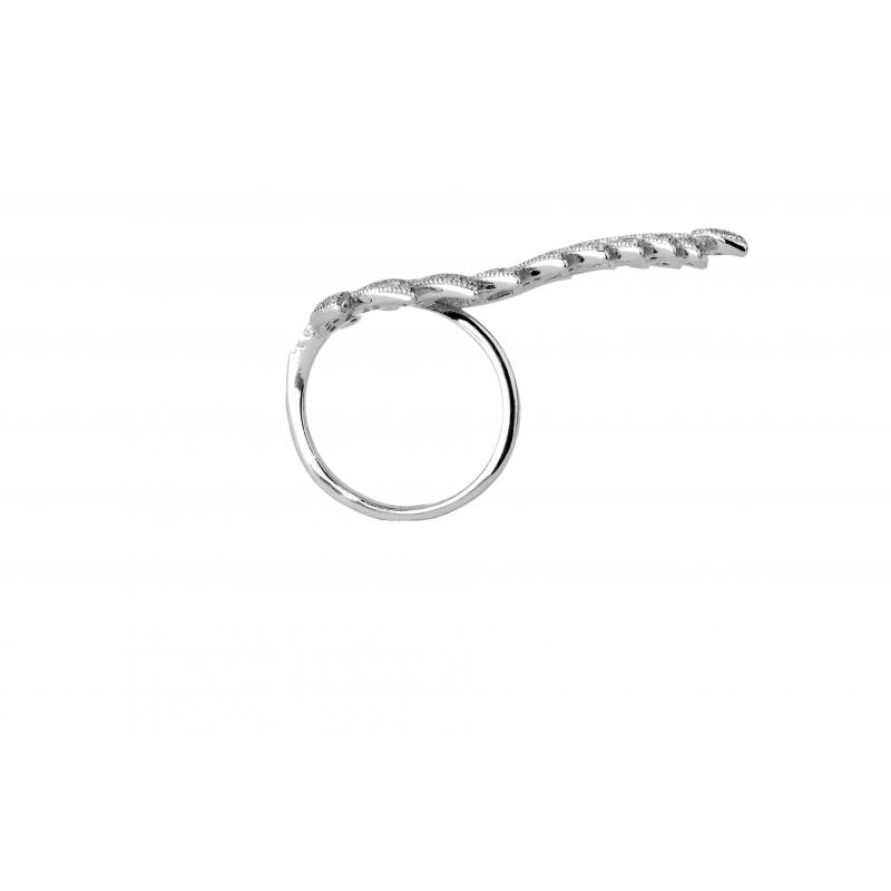 Pierścionek srebrny Liść