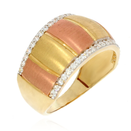 Złoty pierścionek obrączkowy 585