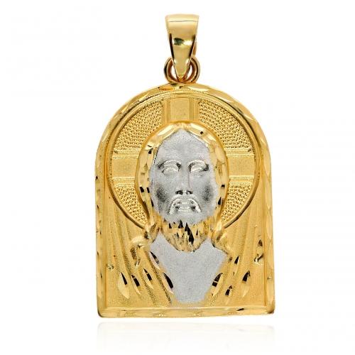 Medalik z białym złotem