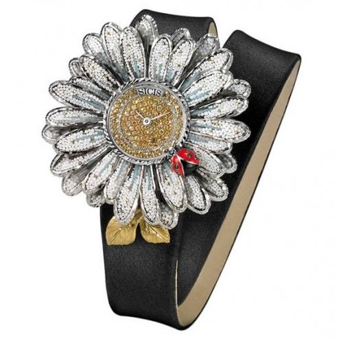 Zegarek SICIS Daisy biały stokrotka