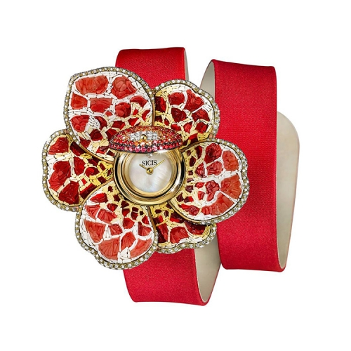 Zegarek złoty SICIS kwiat