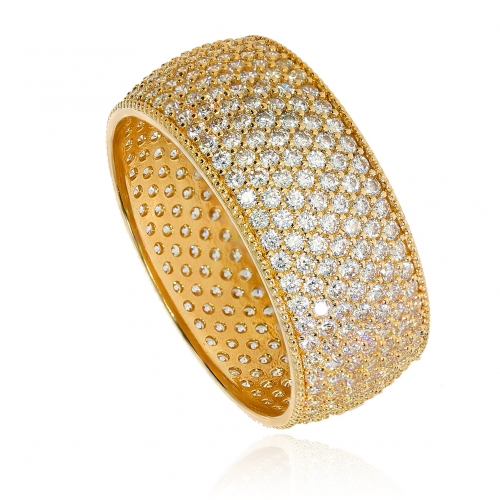 Szeroki pierścionek obrączkowy