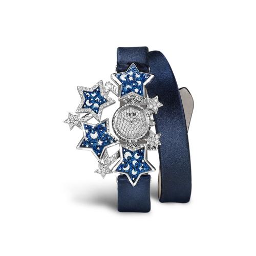 Zegarek złoty SICIS Etoile niebieski